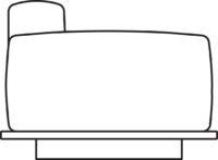 Armrest/2-seater
