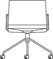 Armchair, 4 castors