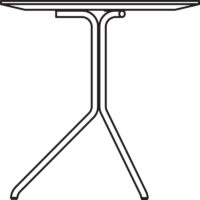 Table Ø500 mm, height 500 mm, white pigmented oak laminate