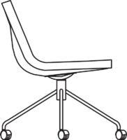 Medi chair, 4 castors