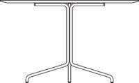 Table Ø1200 mm, white laminate, MicroDot / white pigmented oak laminate