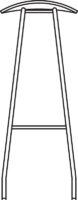 High Bar stool, fully upholstered