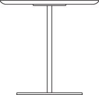 Table, 750 x 750 mm, height 1090 mm