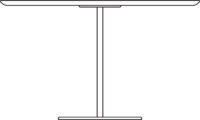 Table Ø1200 mm, height 720 mm, white laminated plywood