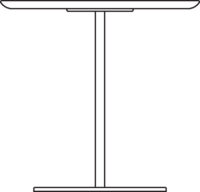 Table 2200 x 750 mm, height 720 mm