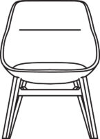 Wood Low chair 538-86