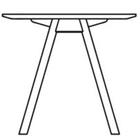 Table  1800 800 mm, height 720 mm