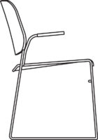 Armchair, white laminate NCS S0502-G50Y, qty < 249