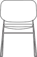 Chair, white NCS 0500, qty < 250