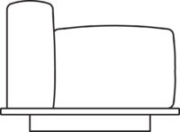 Sofa, 1-seater, armrest right/left