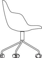 Chair, 5 castors