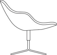 Easy chair with 4-cross