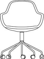 Meeting chair, 5 castors