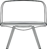 Low, easy chair