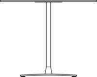 Table Ø900 mm, height 550 mm, chrome frame