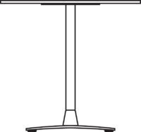 Table Ø600 mm, height 550 mm, chrome frame