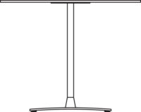 Table Ø900 mm, height 400 mm, white compact laminate. Chrome frame