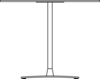 Table Ø900 mm, height 720 mm, white compact laminate. Chrome frame