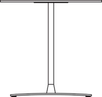 Table 1300 x 750 mm, height 720 mm, white compact laminate