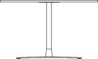 Table 2400 x 1100 mm, height 720 mm, white compact laminate