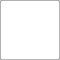 Table 750 x 750 mm, height 400 mm, white compact laminate. White lacquered frame