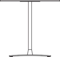 Table 750 x 750 mm, height 550 mm, chrome frame