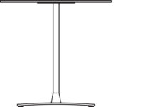 Table 750 x 750 mm, height 720 mm, white compact laminate. Chrome frame