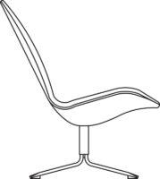 High easy chair