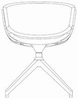 Chair, 4 cross
