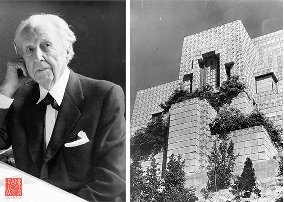 Frank Lloyd Wright (1867-1959) . The Ennis house (from 1924), California.