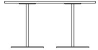 Table 1400 x 700 mm, height 720 mm