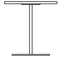 Table Ø700 mm, height 720 mm