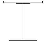 Table 700 x 700 mm, height 720 mm