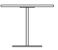 Table Ø900 mm, height 1090 mm