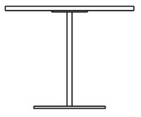 Table Ø900 mm, height 450 mm