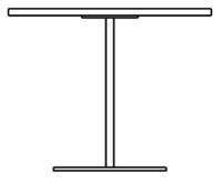 Table 900 x 900 mm, height 450 mm