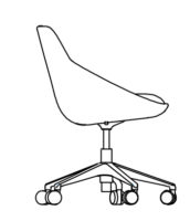 Chair Low, 5 castors 538-84