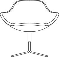 Easy chair, 4-cross base