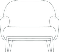 Easy chair Wood, Classic