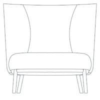 Easy chair Wood, high