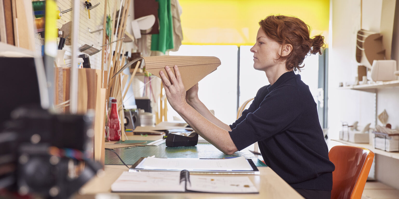 Lucy Kurrein for Offecct. Photographed at her East London studio. 2021