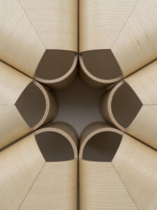 Offecct Wooden verneer stool by Lucy Kurrein _detail